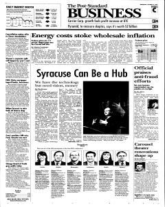 Syracuse Post Standard, October 19, 2005, Page 21