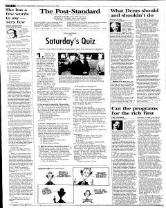 Syracuse Post Standard, October 22, 2005, Page 80