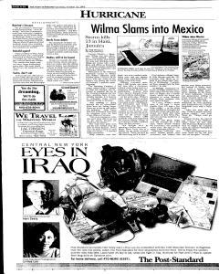 Syracuse Post Standard, October 22, 2005, Page 98