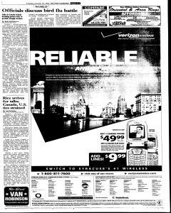 Syracuse Post Standard, October 25, 2005, Page 3