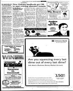 Syracuse Post Standard, October 25, 2005, Page 11