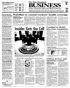 Syracuse Post Standard, October 25, 2005, Page 23