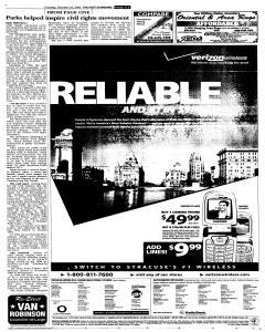 Syracuse Post Standard, October 25, 2005, Page 65