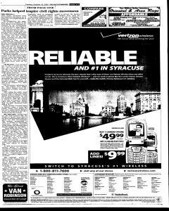 Syracuse Post Standard, October 25, 2005, Page 87