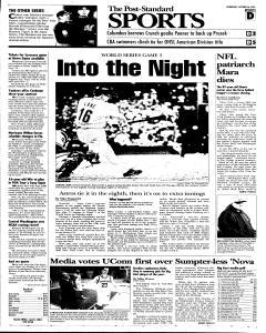 Syracuse Post Standard, October 26, 2005, Page 27