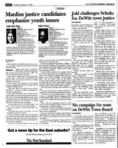 Syracuse Post Standard, October 27, 2005, Page 94