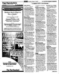 Syracuse Post Standard, October 27, 2005, Page 128