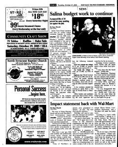 Syracuse Post Standard, October 27, 2005, Page 138