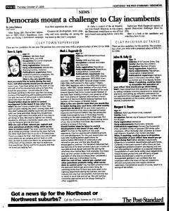 Syracuse Post Standard, October 27, 2005, Page 176
