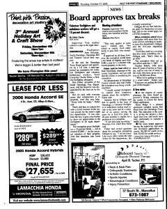 Syracuse Post Standard, October 27, 2005, Page 244