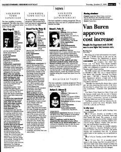 Syracuse Post Standard, October 27, 2005, Page 149