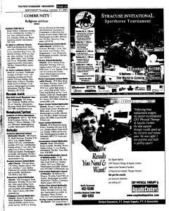 Syracuse Post Standard, October 27, 2005, Page 163