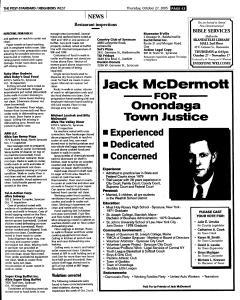 Syracuse Post Standard, October 27, 2005, Page 279