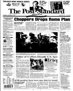 Syracuse Post Standard, October 27, 2005, Page 307