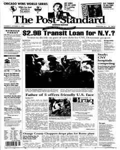 Syracuse Post Standard, October 27, 2005, Page 329