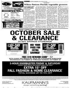 Syracuse Post Standard, October 28, 2005, p. 14