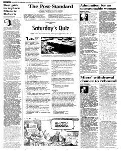 Syracuse Post Standard, October 29, 2005, Page 64
