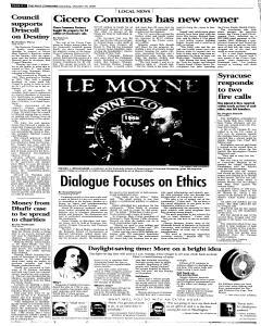 Syracuse Post Standard, October 29, 2005, Page 68