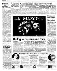 Syracuse Post Standard, October 29, 2005, Page 84