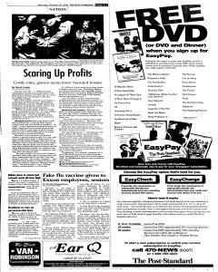 Syracuse Post Standard, October 29, 2005, p. 7