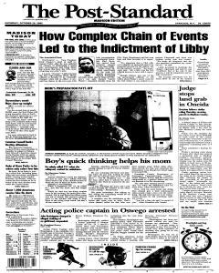 Syracuse Post Standard, October 29, 2005, Page 73
