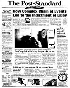 Syracuse Post Standard, October 29, 2005, Page 89