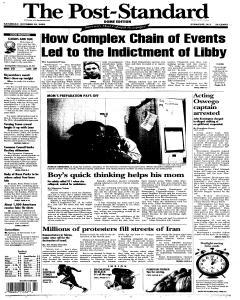 Syracuse Post Standard, October 29, 2005, Page 107