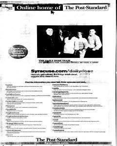 Syracuse Post Standard, November 07, 2005, Page 12