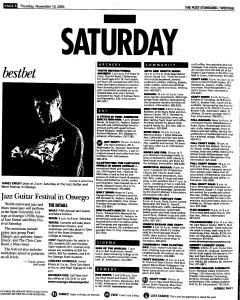 Syracuse Post Standard, November 10, 2005, Page 62