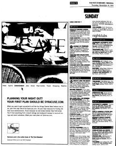 Syracuse Post Standard, November 10, 2005, Page 66