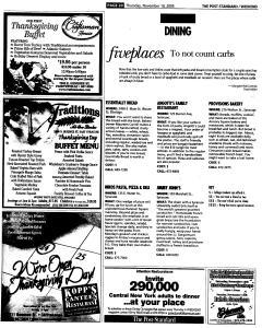 Syracuse Post Standard, November 10, 2005, Page 74