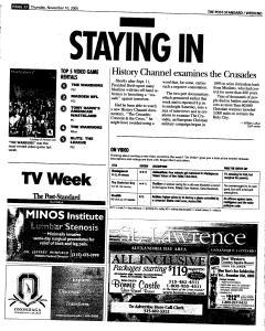 Syracuse Post Standard, November 10, 2005, Page 86