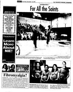 Syracuse Post Standard, November 10, 2005, Page 114