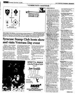 Syracuse Post Standard, November 10, 2005, Page 120