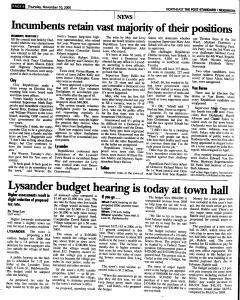 Syracuse Post Standard, November 10, 2005, Page 130