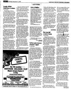 Syracuse Post Standard, November 10, 2005, Page 147