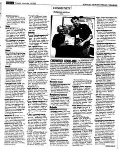 Syracuse Post Standard, November 10, 2005, Page 157