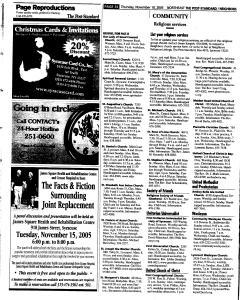 Syracuse Post Standard, November 10, 2005, Page 159