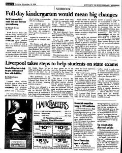 Syracuse Post Standard, November 10, 2005, Page 177
