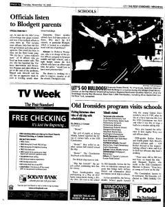 Syracuse Post Standard, November 10, 2005, Page 208
