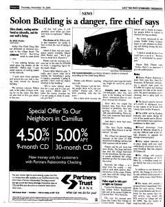 Syracuse Post Standard, November 10, 2005, Page 230