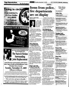 Syracuse Post Standard, November 10, 2005, Page 238