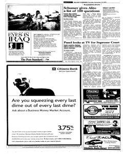 Syracuse Post Standard, November 10, 2005, Page 294