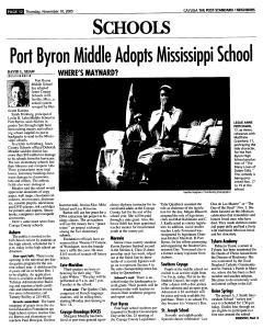 Syracuse Post Standard, November 10, 2005, Page 338