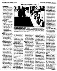 Syracuse Post Standard, November 10, 2005, Page 350