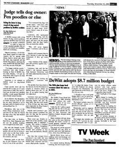 Syracuse Post Standard, November 10, 2005, Page 97