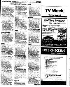 Syracuse Post Standard, November 10, 2005, Page 123