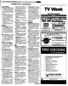 Syracuse Post Standard, November 10, 2005, Page 152
