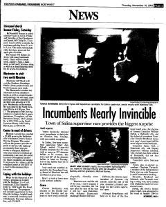 Syracuse Post Standard, November 10, 2005, Page 164