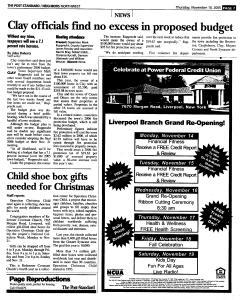 Syracuse Post Standard, November 10, 2005, Page 168